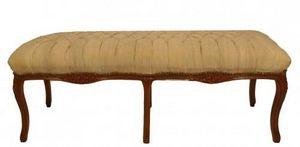 Demeure et Jardin - banquette bout de lit lin écru - Bench Seat