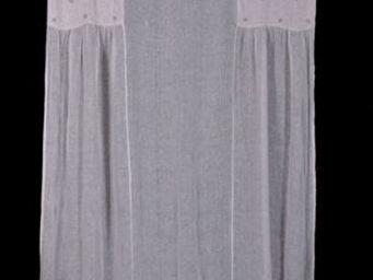 Coquecigrues - paire de rideaux smoking rose poudré - Ready To Hang Curtain