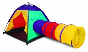 Traditional Garden Games - tente d'aventure colorée pour enfant 183x102x94cm - Children's Garden Play House