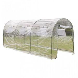 WHITE LABEL - serre de jardin 450x190x200 cm - Greenhouse Tunnel