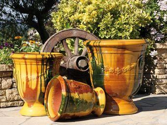 Les Poteries D'albi - pied guirlande - Anduze Vase