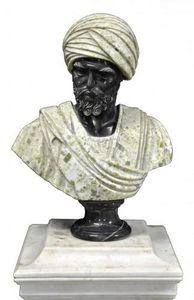 Demeure et Jardin - buste ottoman marbre noir et bréche verte - Bust Sculpture