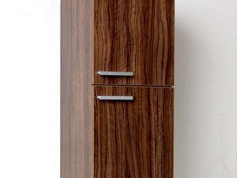 UsiRama.com - colonne de salle de bain 70cm marron foncé rayé - Bathroom Wall Cabinet