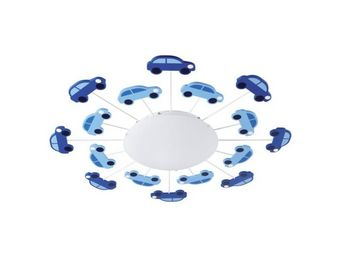 Eglo - applique/plafonnier enfant viki 1 bleu - Children's Bedside Light