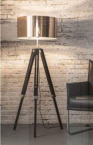WHITE LABEL - lampadaire dim design en cuivre - Trivet Floor Lamp