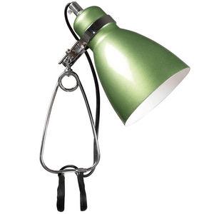 WHITE LABEL - lampe à crampon hernandez coloris vert - Clip On Spotlight