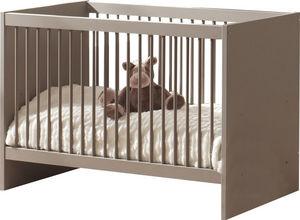 WHITE LABEL - lit évolutif pour bébé design gris basalte - Baby Bed