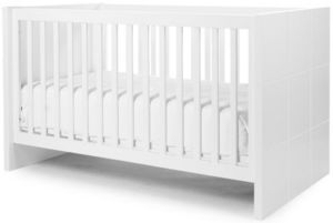WHITE LABEL - lit bébé évolutif 70x140cm coloris blanc design mo - Travel Cot