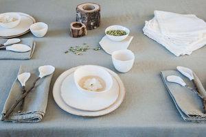 Couleur Chanvre - couleur vert amande - Rectangular Tablecloth