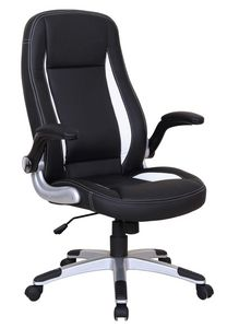 WHITE LABEL - chaise de bureau design noir et blanc - Office Chair
