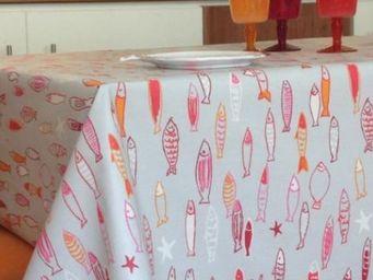 FLEUR DE SOLEIL - poissons soleil - Coated Tablecloth