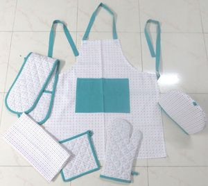 ITI  - Indian Textile Innovation - small dots - turquoise - Kitchen Apron