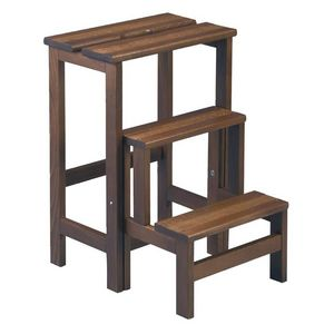 WHITE LABEL - tabouret escabeau en bois - tufelle - l 40 x l 49  - Step Ladder