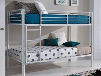 WHITE LABEL - lit superposé blanc - baly - l 201 x l 99 x h 150 - Children Bunk Bed