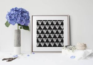 la Magie dans l'Image - print art géometrie végétale - Poster