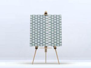 la Magie dans l'Image - toile lotus vert-de-gris blanc - Digital Wall Coverings