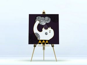 la Magie dans l'Image - toile ogre pluie fond marron - Digital Wall Coverings