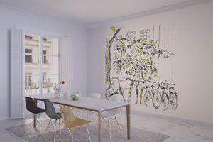 la Magie dans l'Image - grande fresque murale vélos - Panoramic Wallpaper