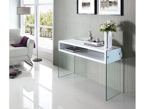 WHITE LABEL - console jade - blanc - Console Table