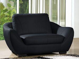 WHITE LABEL - fauteuil cuir julietta - Armchair
