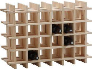 Aubry-Gaspard - casier à vin en bois 24 bouteilles - Bottle Rack