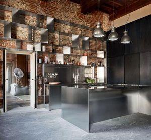 ABIMIS - cuisine et bibliothèque - Built In Kitchen