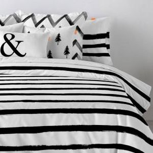 HAPPY FRIDAY -  à rayures - Duvet Cover