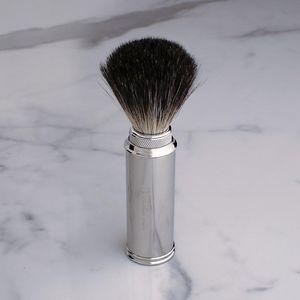 GENTLEMAN LONDON - travel shaving brush nickel - Shaving Brush