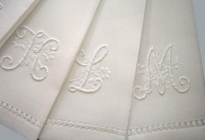 Noel - monogramme - Table Napkin