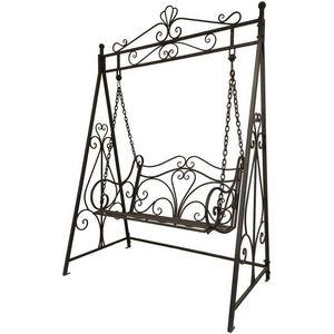 CHEMIN DE CAMPAGNE - balançoire balancelle banc de jardin en fer 2 plac - Swinging Chair