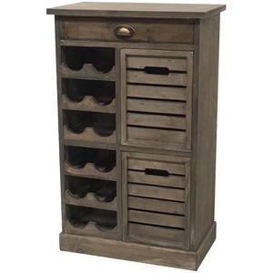 CHEMIN DE CAMPAGNE - meuble bahut console commode à vin bouteilles 93 c - Bar Counter
