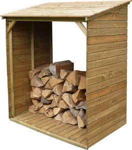 Cihb - abri bûches en bois avec plancher tim 150 x 100 x - Fire Wood Shed