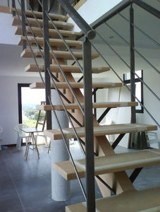 HALLOU ESCALIERS -  - Straight Staircase