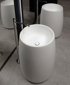 CARLO COLOMBO - barrel - Pedestal Washbasin