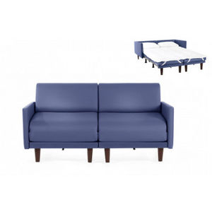 Likoolis - pacduo80l-cuirdevonbleu - Daybed