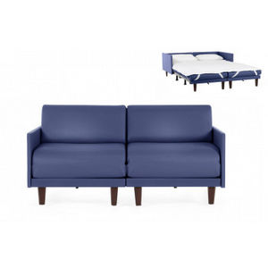 Likoolis - pacduo80m-cuirdevonbleu - Daybed