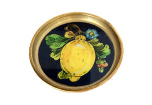 Tirinnanzi - line blue lemons - Coaster