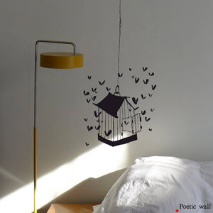 POETIC WALL - la cage aux coeurs - Sticker