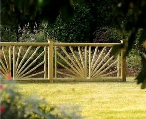 Piveteau -  - Fence With An Openwork Design