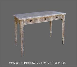 DECO PRIVE - consoles regency cerusee - Drawer Console