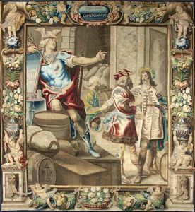 Galerie Hadjer - « allégorie du commerce» - Flanders Tapestry