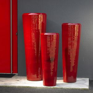 POTERIE GOICOECHEA - vase tube fabrication à la corde - Large Vase