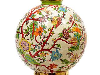 EMAUX DE LONGWY - boule coloniale (aurore) - Decorative Ball