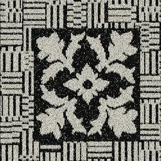 Interface Europe - black and white ink blot - Carpet Tile