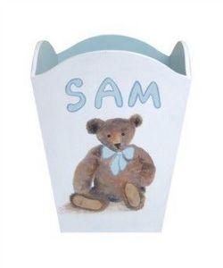Joanna Wallis Handpainted Lamps - teddy bin - Wastepaper Basket