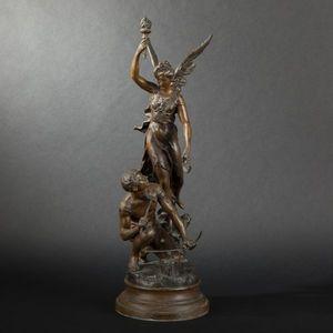 Expertissim - ch. vely, sculpture en régule, la gloire au travai - Sculpture