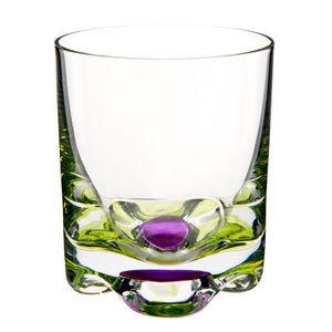 Maisons du monde - gobelet flower vert-rose - Whisky Glass