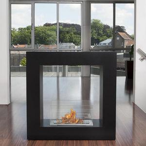 BIO BLAZE - qube small - Flueless Burner Fireplace