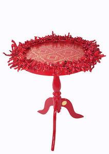 RELOADED DESIGN - mini table verso sud red coral - small - Pedestal Table