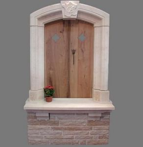 TENDANCE PIERRE - fenetre ancienne en pierre de chanceaux - Window Frame